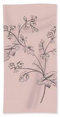 Phacelia Blush Pink Flower Bath Towel