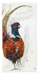Pheasant Portrait Bath Towel