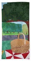 Picnic At Ellis Pond Hand Towel