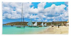 Picture Perfect Day For Sailing In Anguilla Hand Towel