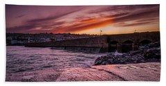 Pier To Pier Sunset Hand Towel