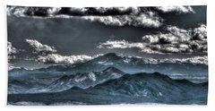 Pikes Peak And Clouds Bath Towel