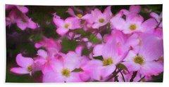 Pink Dogwood Flowers  Bath Towel