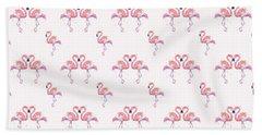 Pink Flamingo Pattern Hand Towel