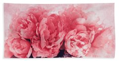 Pink Peonies Bath Towel