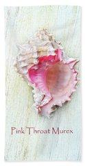 Pink Throat Murex II Hand Towel