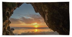 Pismo Caves Sunset Bath Towel
