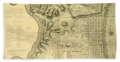 Plan Of The City Of Philadelphia And Its Environs Shewing The Improved Parts, 1796 Hand Towel