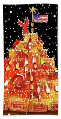 Plymouth Lobster Trap Tree Hand Towel