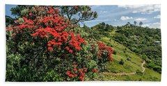 Pohutukawa Tree, Otama, Coromandel Peninsula - Waikato Hand Towel