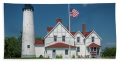 Point Iroquois Lighthouse Hand Towel