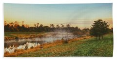 Pond In Fall Hand Towel