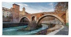 Ponte Fabricio Rome Italy Hand Towel