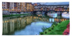Ponte Vecchio Florence Italy Hand Towel