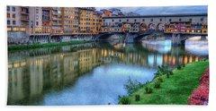 Ponte Vecchio Florence Italy Hand Towel