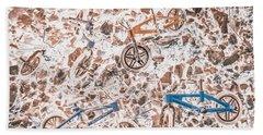 Pop Art Mountain Ride Hand Towel