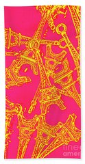 Pop Art Paris Hand Towel