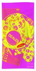 Pop Art Poker Hand Towel