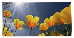 Poppies Enjoy The Sun Hand Towel