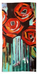 Poppy Abstract Hand Towel
