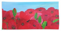 Poppy Parade Hand Towel