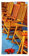 Porch Rocking Chairs Hand Towel