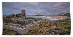 Porthmeor Beach January View Bath Towel