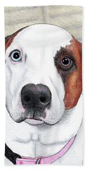 Portrait Of A Dog Named Dave Hand Towel
