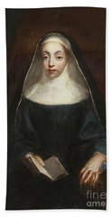 Portrait Of A Nun Of The Order Of The Holy Annunciation  Bath Towel