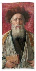 Portrait Of A Rabbi, 19th Century Bath Towel