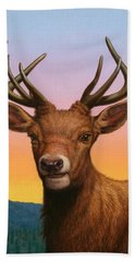 Portrait Of A Red Deer Hand Towel