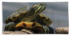 Portrait Of A Turtle Hand Towel