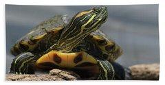 Portrait Of A Turtle Bath Towel