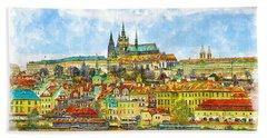Prague, Czech Republic Bath Towel