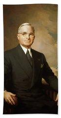 Presidential Portrait Of Harry Truman Bath Towel