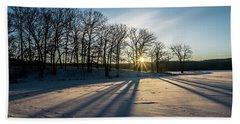 Pretty Winter Sun Rise Scene Bath Towel