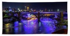 Prince Memorial Bridge Lighting Bath Towel