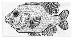 Pumpkinseed Fish Hand Towel