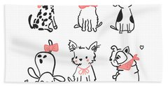 Puppy Love - Baby Room Nursery Art Poster Print Bath Towel