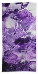 Purple Chaos Abstract 1  Bath Towel