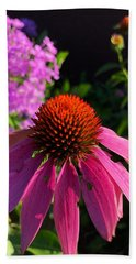 Bath Towel featuring the photograph Purple Coneflower by Lukas Miller