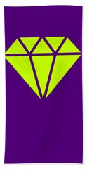 Purple Diamond Yellow Hand Towel