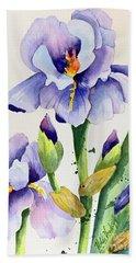 Purple Iris And Buds Hand Towel