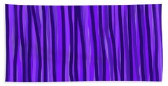 Purple Lines Hand Towel