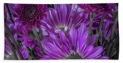 Purple Power Chrysanthemum  Bath Towel