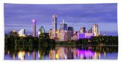 Purple Rain City Of Dallas Texas Hand Towel