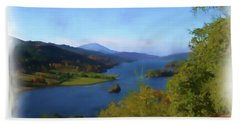 Queens View Painting Hand Towel