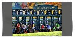 Fall Racing At Keeneland  Hand Towel