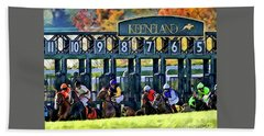Fall Racing At Keeneland  Bath Towel
