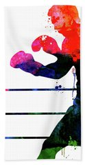 Raging Bull Watercolor Bath Towel